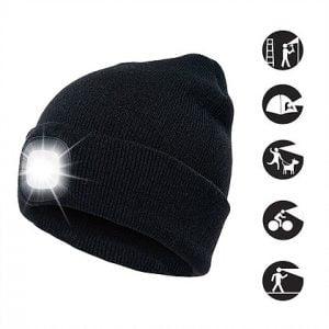 כובע גרב עם פנס לד LED מובנה