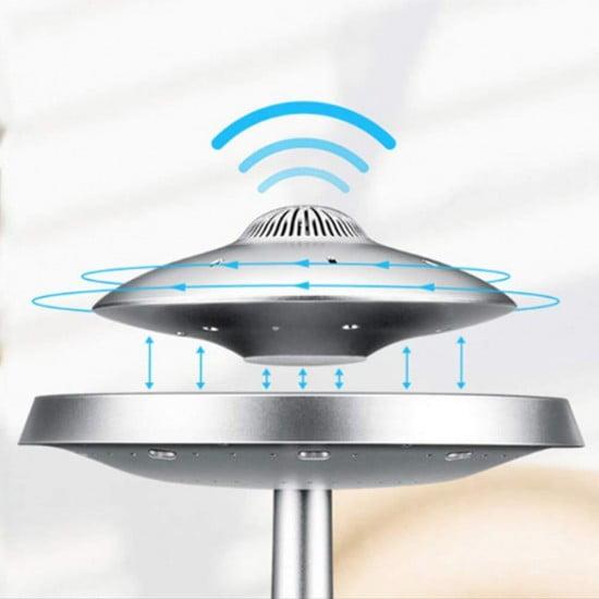 רמקול חללית מרחפת עם תאורת LED