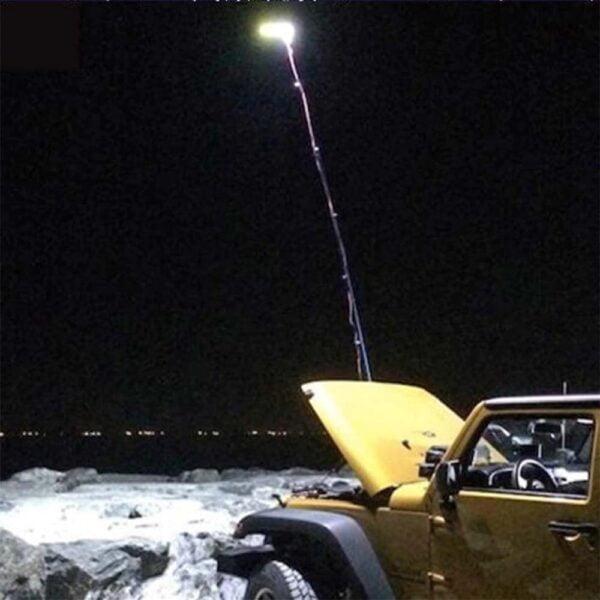 תאורת לד לקמפינג עם מוט טלסקופי
