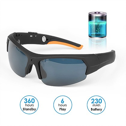 משקפי שמש Bluetooth עם מצלמה נסתרת