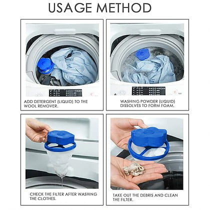 לוכד שיערות וסיבים בכביסה