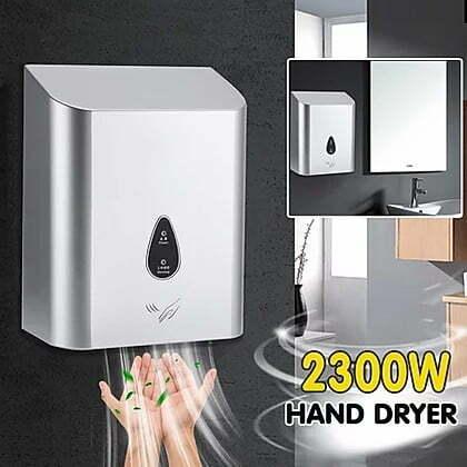 מייבש ידיים בהספק 2300W עם הפעלה אוטומטית וללא צורך במגע