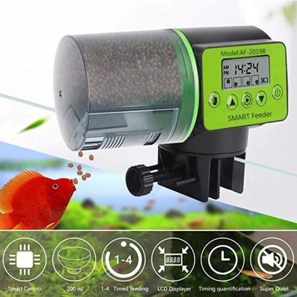 מאכיל דגים אוטומטי אלקטרוני