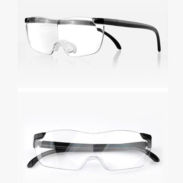 משקפיים עם עדשות מגדילות