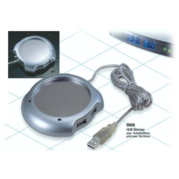 מתקן לחימום שתייה חמה משולב מפצל USB