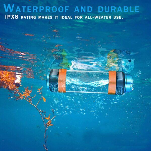 פנס חירום עמיד למים נטען ומשולב סוללת גיבוי 7800mAh