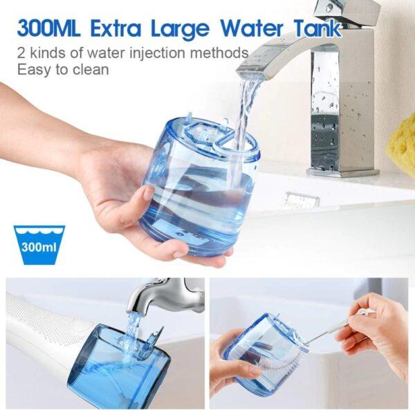 ערכה חשמלית לניקוי השיניים באמצעות סילון מים