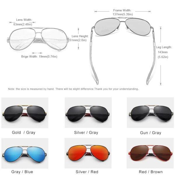 משקפי שמש לגבר