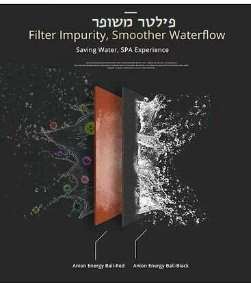 דוש מגביר זרם מים 3 מצבים עם כפתור מעצור מובנה