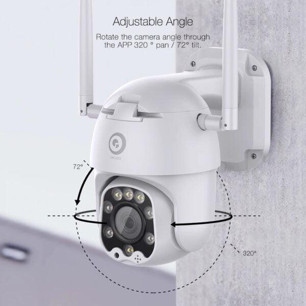 מצלמת אבטחה אלחוטית עמידה למים עם תמיכה בענן Full HD