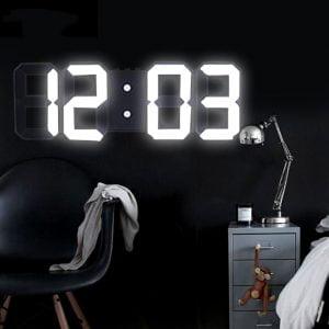 שעון מעורר דיגיטלי בעיצוב תלת מיימד