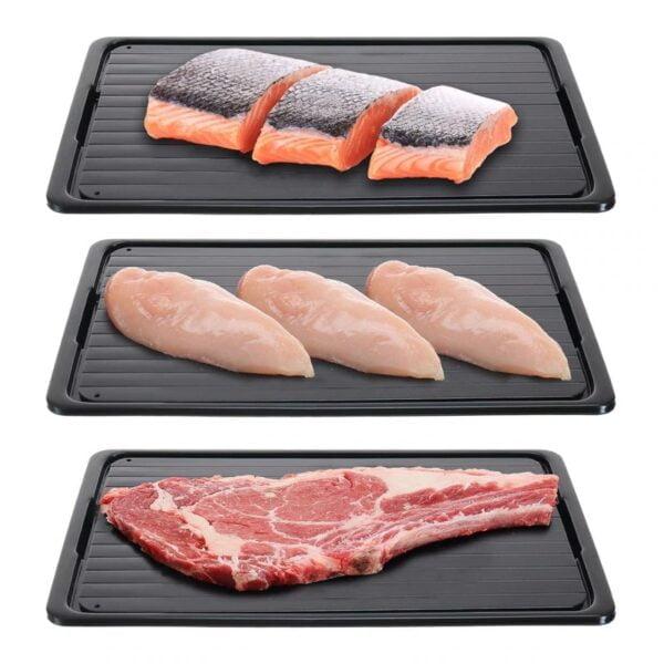 משטח להפשרת בשר ודגים עם מגירת ניקוז