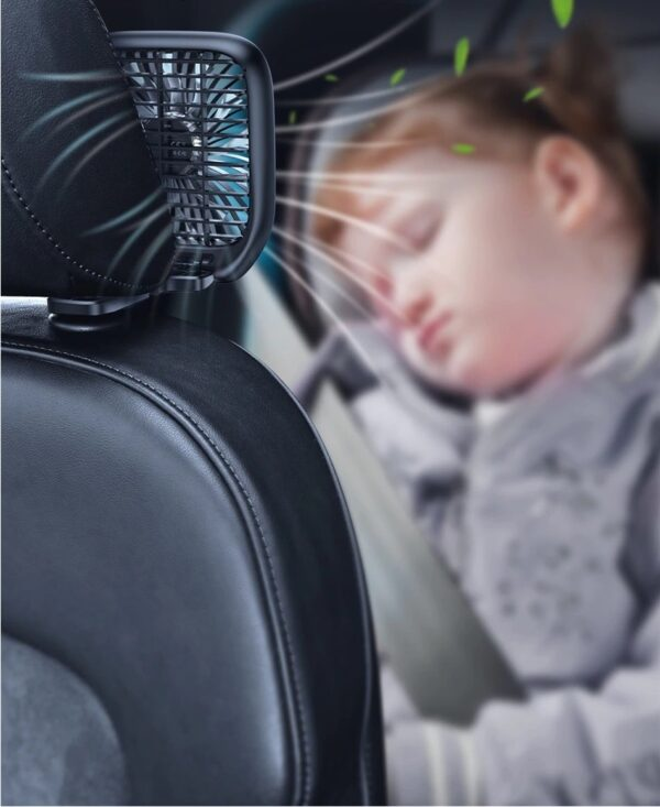 מאוורר למושב האחורי ברכב