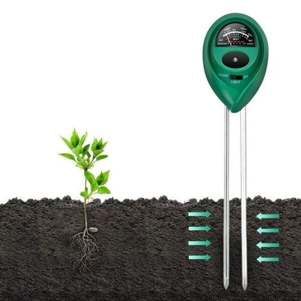 מכשיר לבדיקת 3 היסודות החיוניים בגידול צמחים ועציצים//