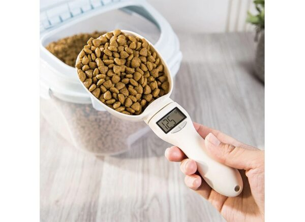 כף מדידה דיגיטלית למזון כלבים וחתולים
