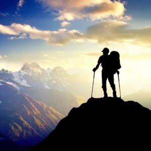 זוג מקלות תומכי הליכה להייקינג וטיולים