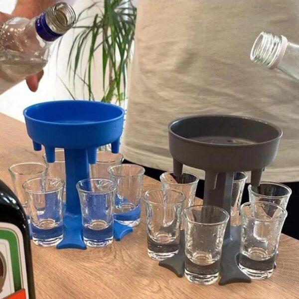 מעמד מילוי 6 כוסות שוטים ו6 כוסות תואמים