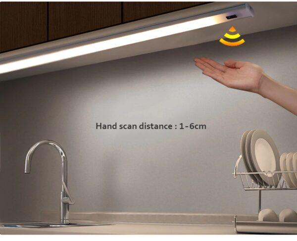 תאורת לד אוטומטית עם חיישן תנועה מובנה