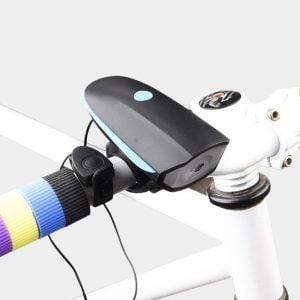 פנס אופניים משולב צופר