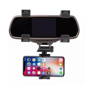 מעמד לסמארטפון עם חיבור למראה הקדמית ברכב