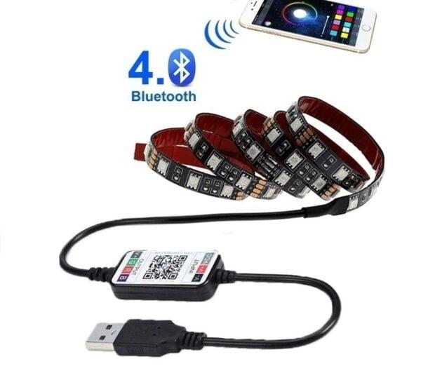 תאורת לד צבעונית אחורית למסכי טלוויזיה המופעלת באמצעות הסמארטפון