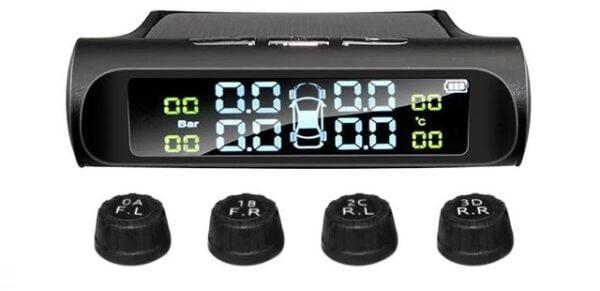מערכת סולארית לניטור לחץ אוויר בגלגלי הרכב