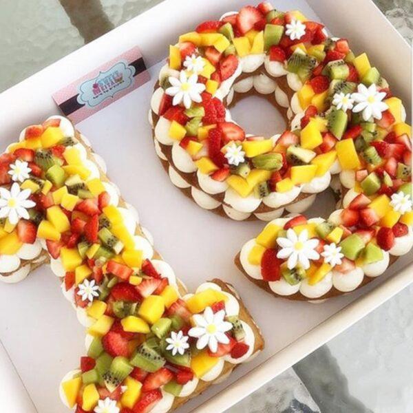 תבנית מספרים להכנת עוגה