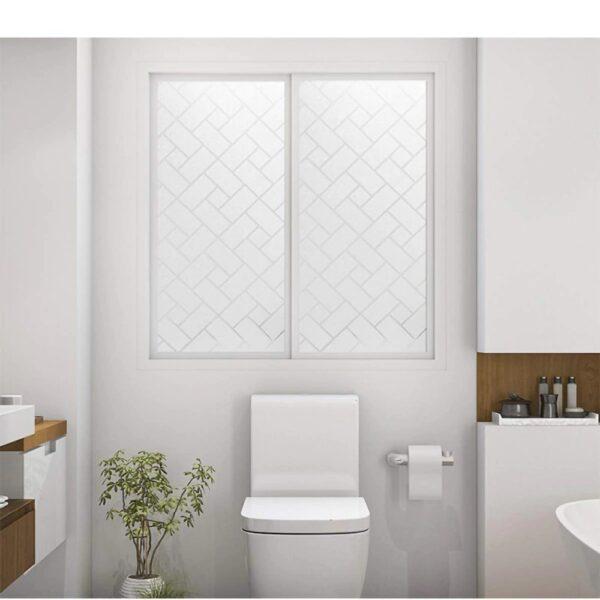 מדבקה תלת מיימד חלבית לחלונות ודלתות זכוכית