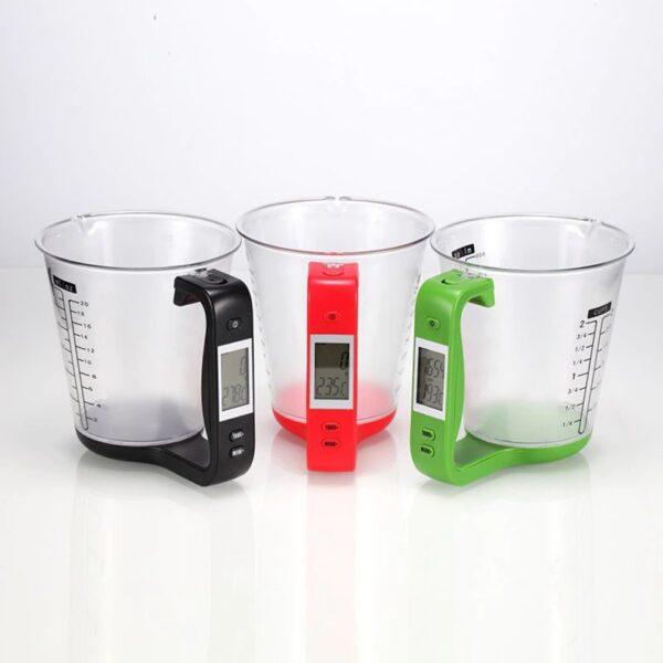 כוס מדידה דיגיטלית עם צג LCD מובנה