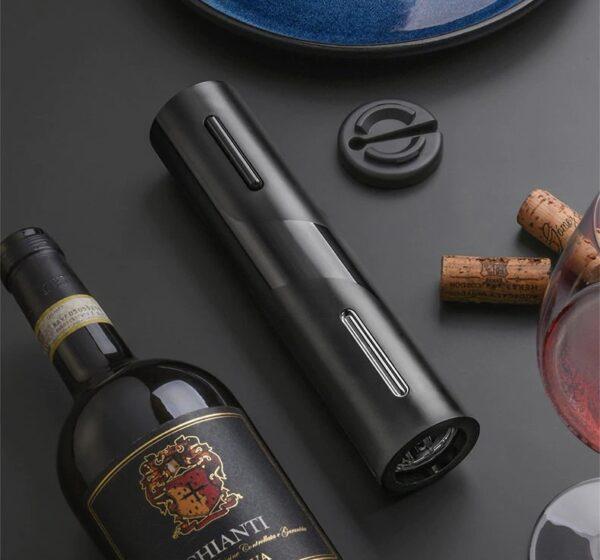 סט פותחן חשמלי נטען לבקבוקי יין