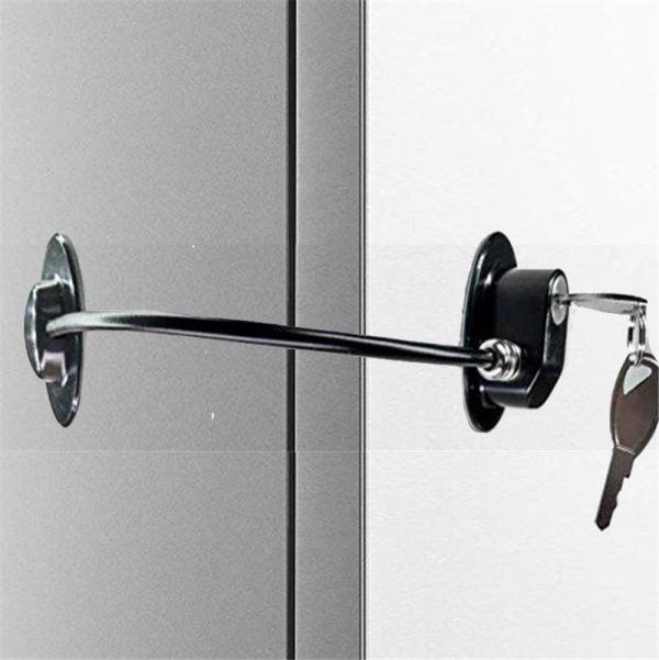 מנעול בטיחות לנעילת ארונות, מגירות וחלונות כולל 2 מפתחות
