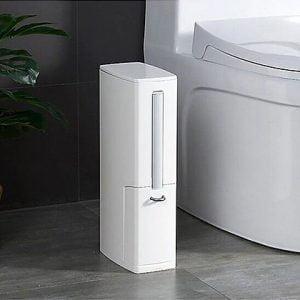 פח אשפה משולב מברשת לשירותים