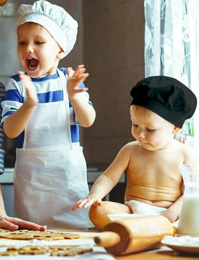סט סינר וכובע שף לילדים
